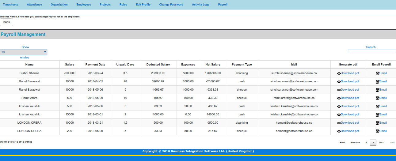 Timesheet Application Payroll