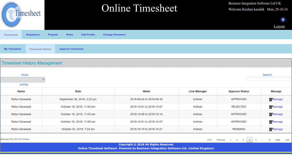 Time Tracking Software for employees, Online Time Tracking Software for Employees