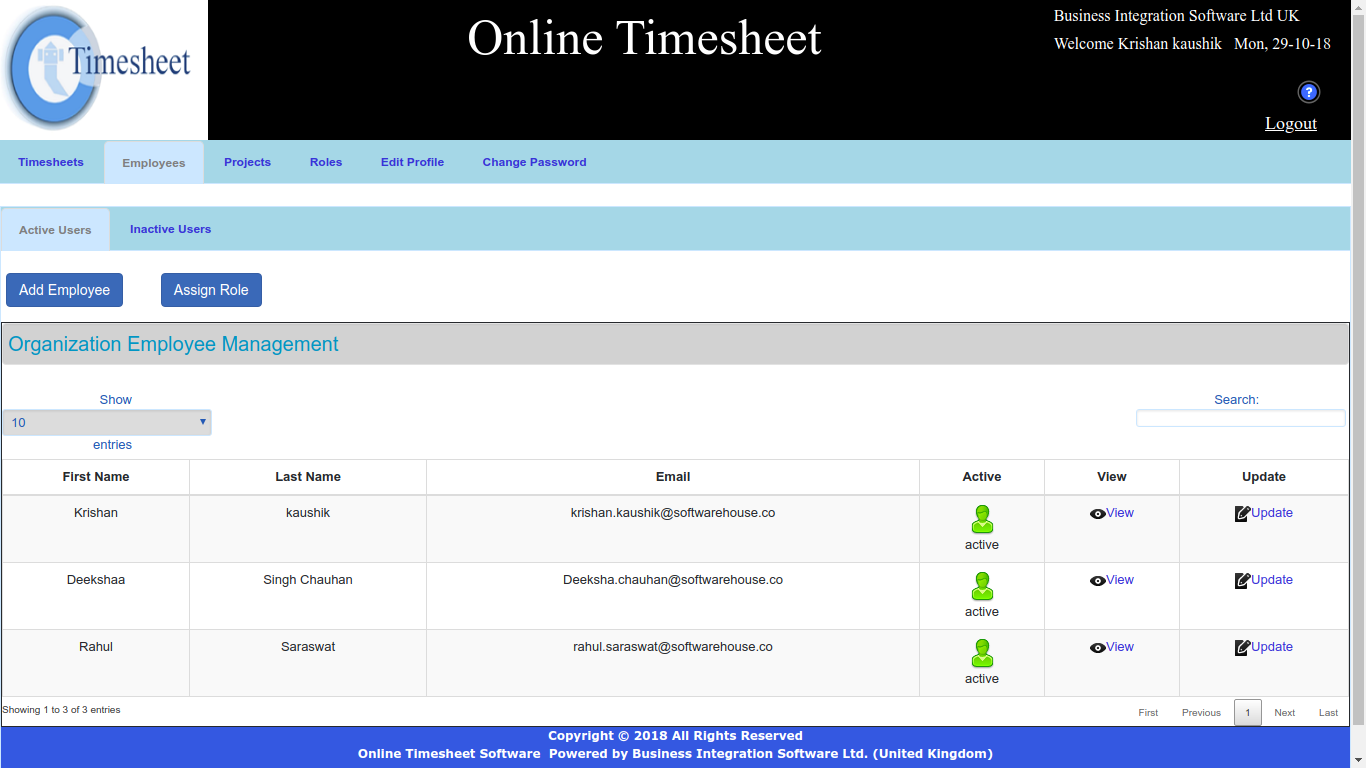Employee Time Tracker Software, Online Employee Time Tracker Software