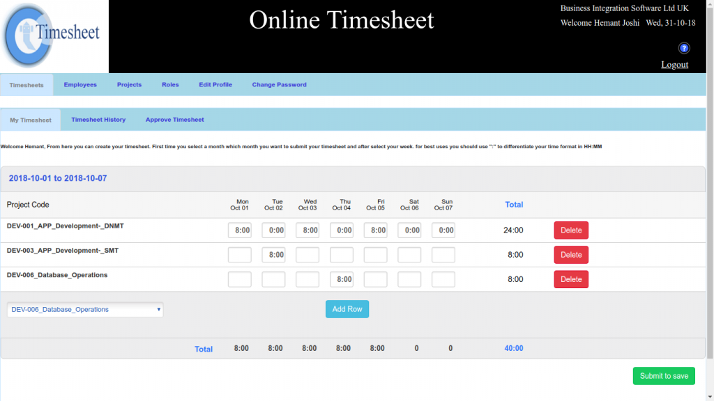 Online Weekly Timesheet, Timesheet Software Weekly, Online Weekly Timesheet Software, Weekly Time Tracking Software Online