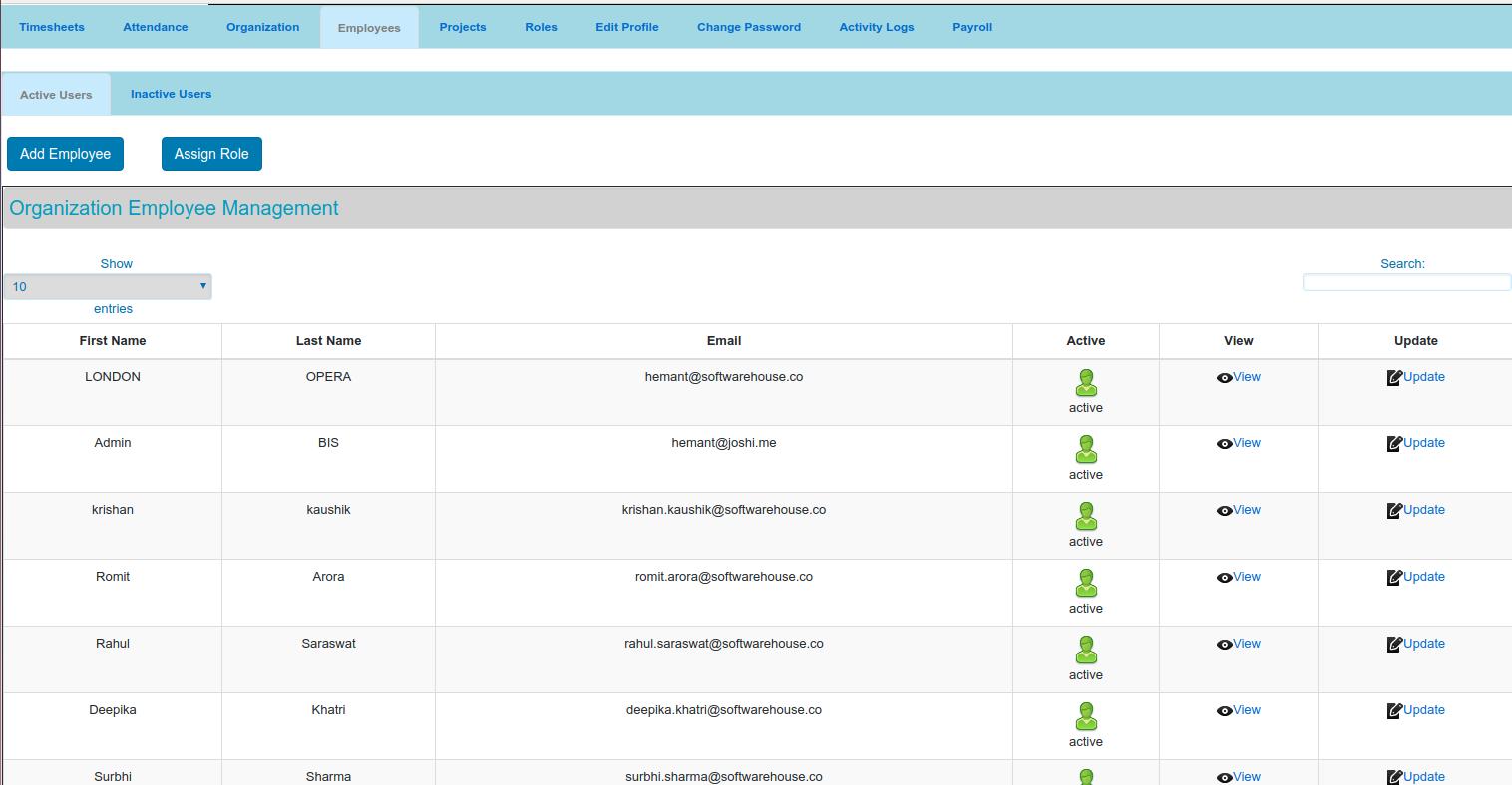Online Timesheet Management System