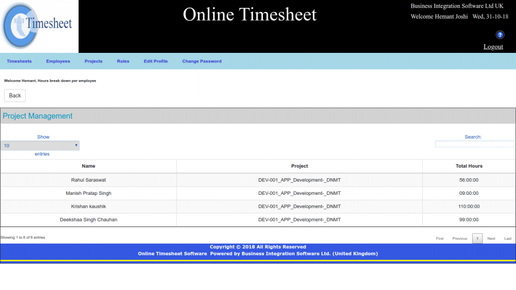 Timesheet for Small Business